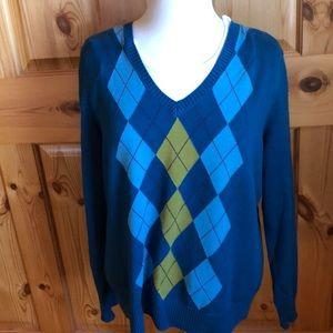 Women's argyle sweater